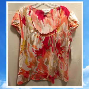 Size Large Allison Taylor Silky Blouse NWT